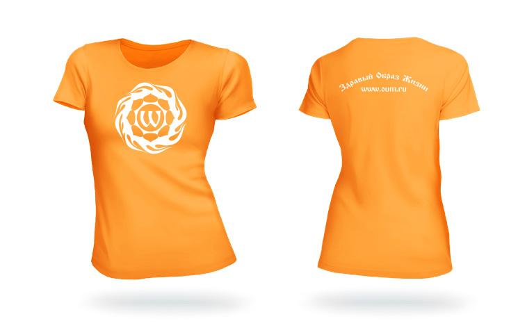 Футболка с логотипом oum ru оранжевая