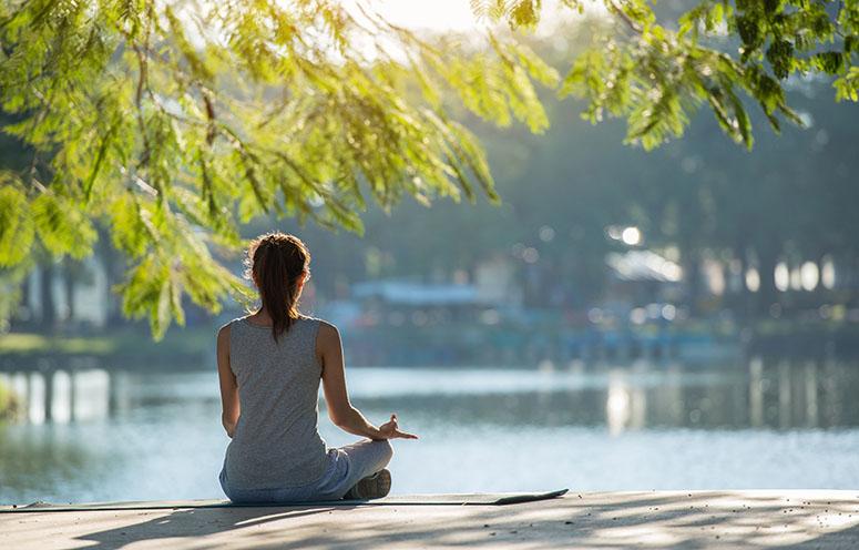 йога, созерцание, медитация, концентрация, на природе