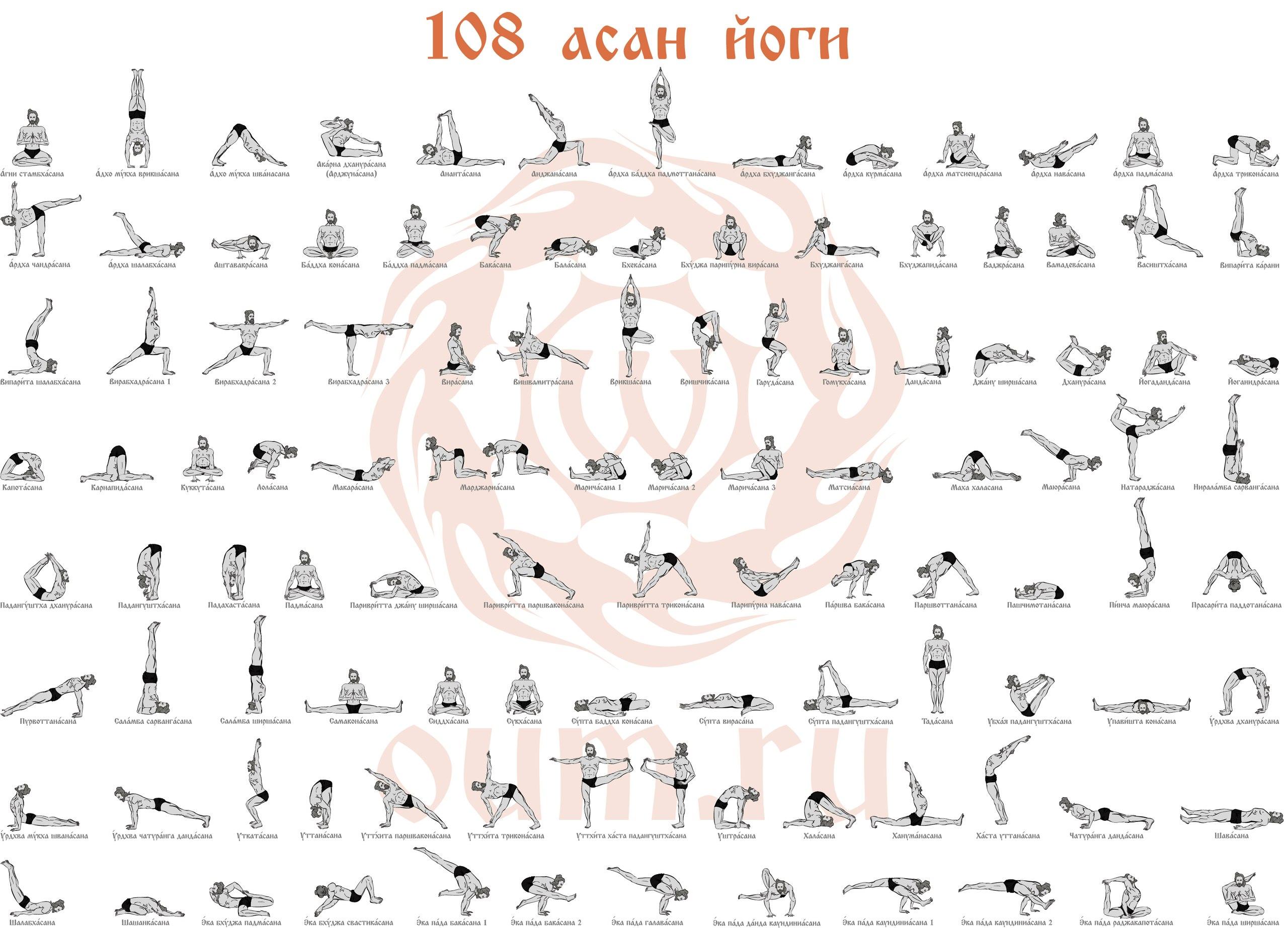 Асаны йоги описание с картинками