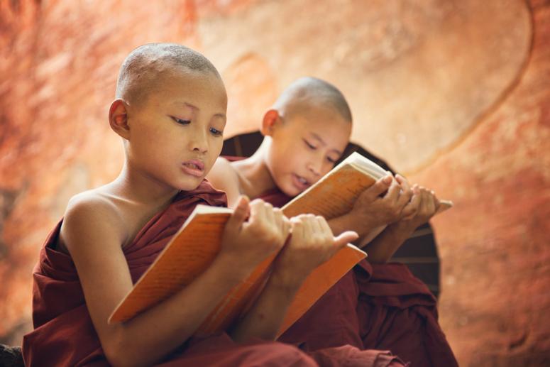 медитация, путь к просветлению, буддизм, монахи