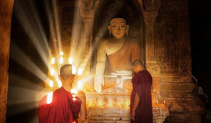будда, биддизм, монахи