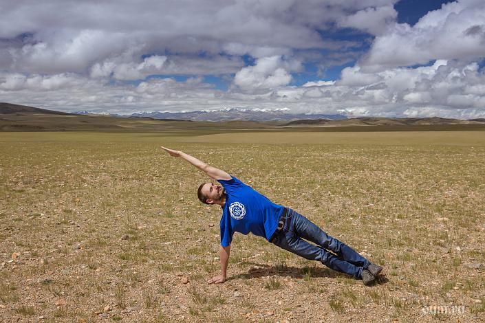 Тибет, боковая планка, йога