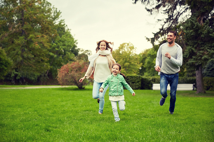 счастливая семья,дети,отдых, зож