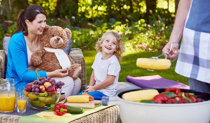 семья, дети, правильное питание