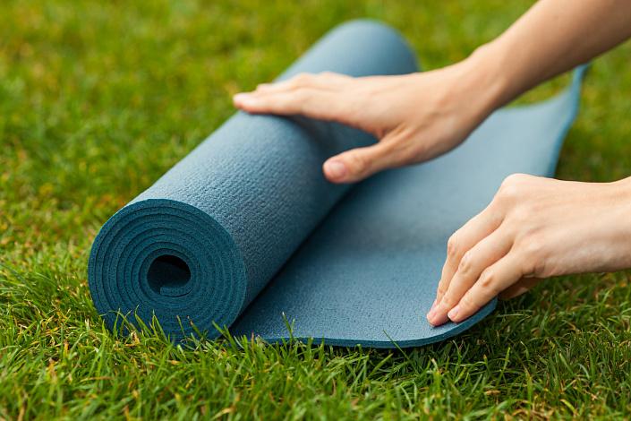 практика йоги, йога на природе